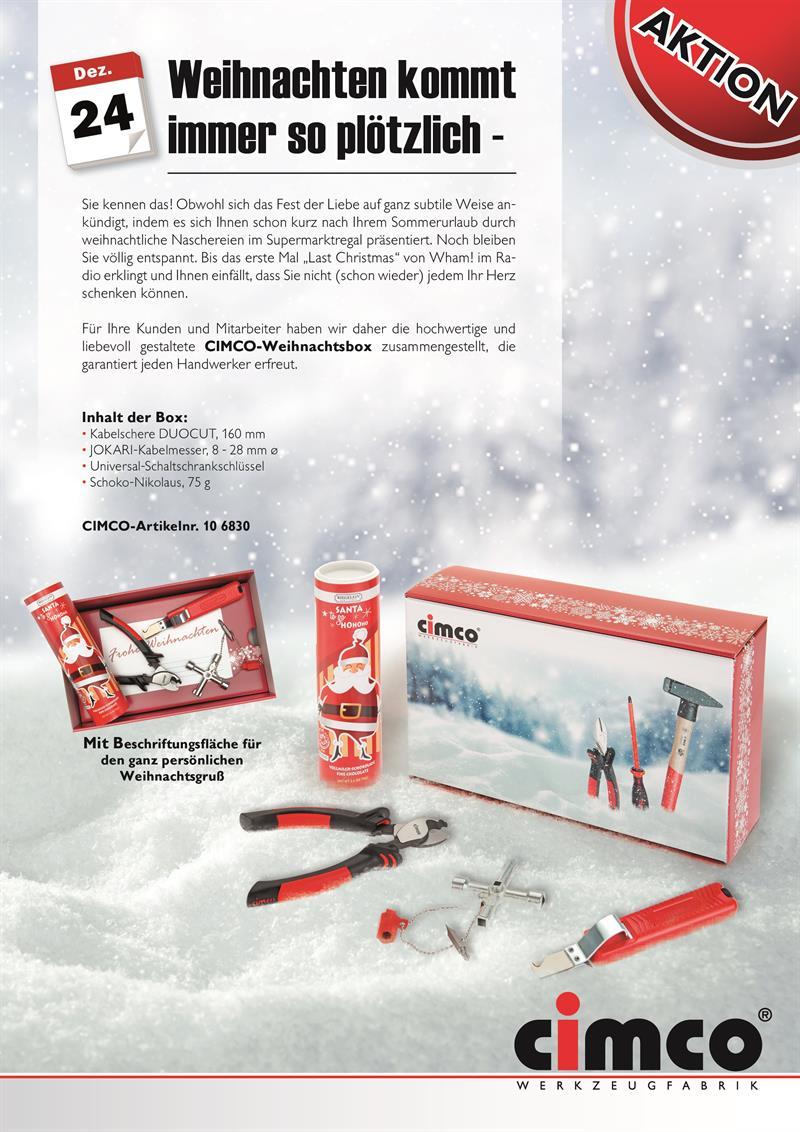 Weihnachtsaktion 2018 - CIMCO - Werkzeuge für Elektrohandwerk und ...